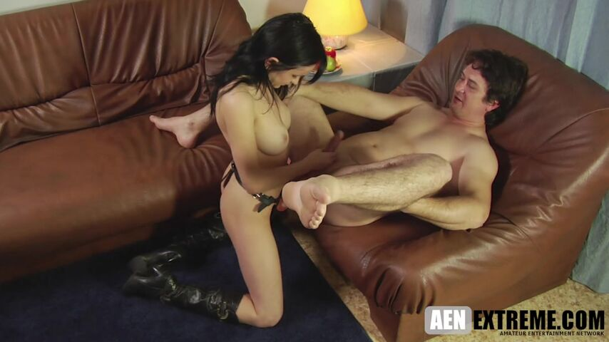 making hubby her bitch