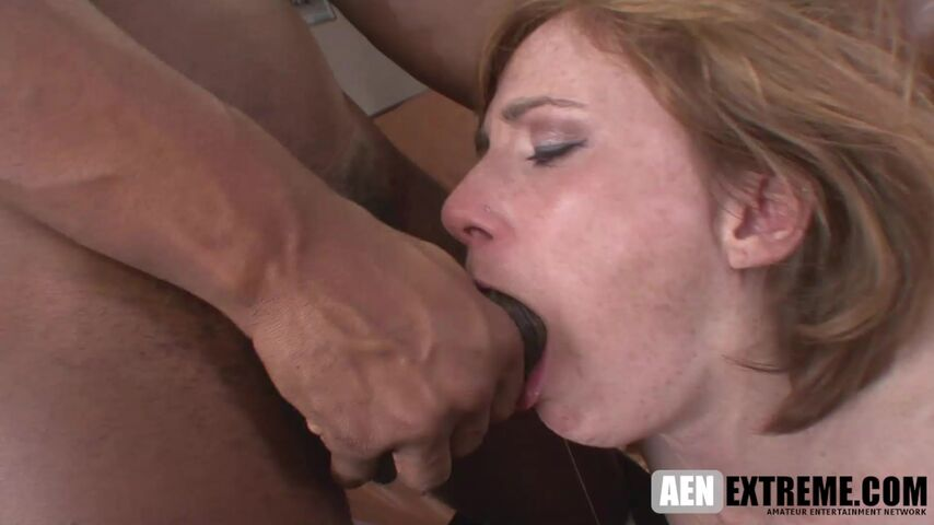 freckled MILF Allison Wyte getting an anal cream pie