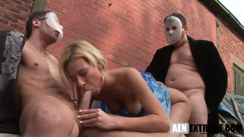 Deniska outdoors playing her perverted games | CNC Fantasy | Masked Perversions