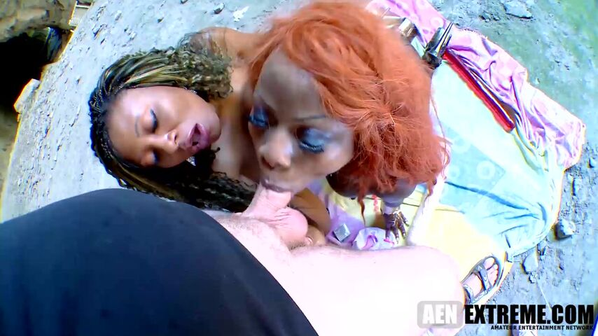 Naomi Lioness and Nancy Love craving their black pussies being filled